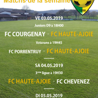 Affiche match weekend 04.05.2019