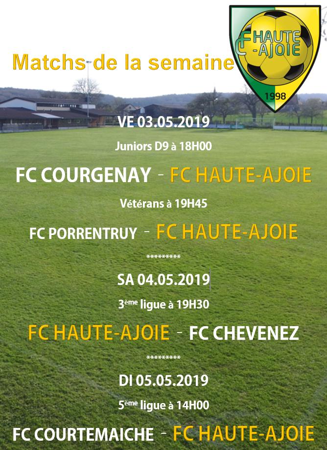 Affiche match weekend 04.05.2019