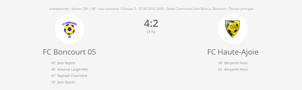 FC Boncourt 05 - FCHA vétérans