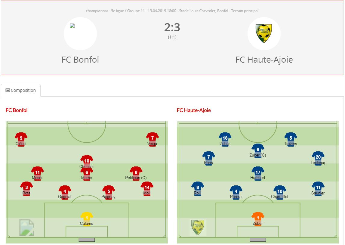 FC Bonfol - FCHA 2