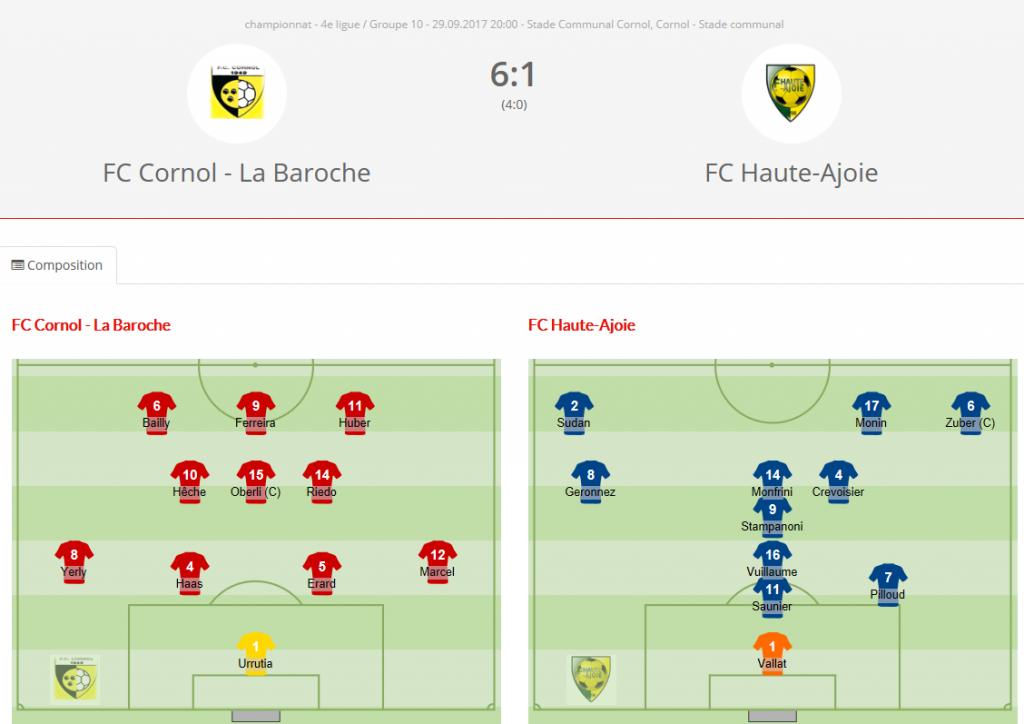 FC Cornol - FC HA2