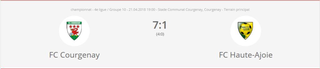 FC Courgenay 2 - FC HA 2