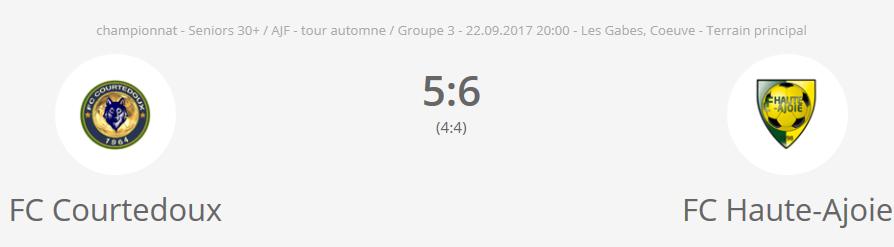 FC Courtedoux vs FC HA vétérans