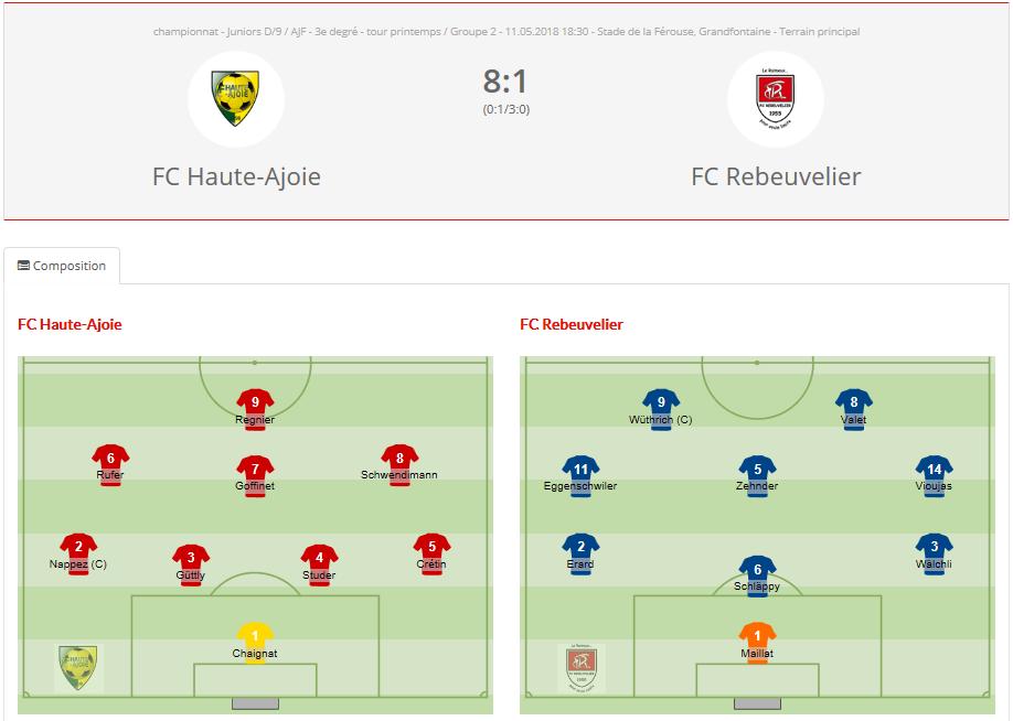 FC HA Juniors D vs FC Rebeuvelier