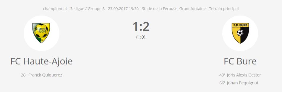 FC HA1 vs FC Bure 1