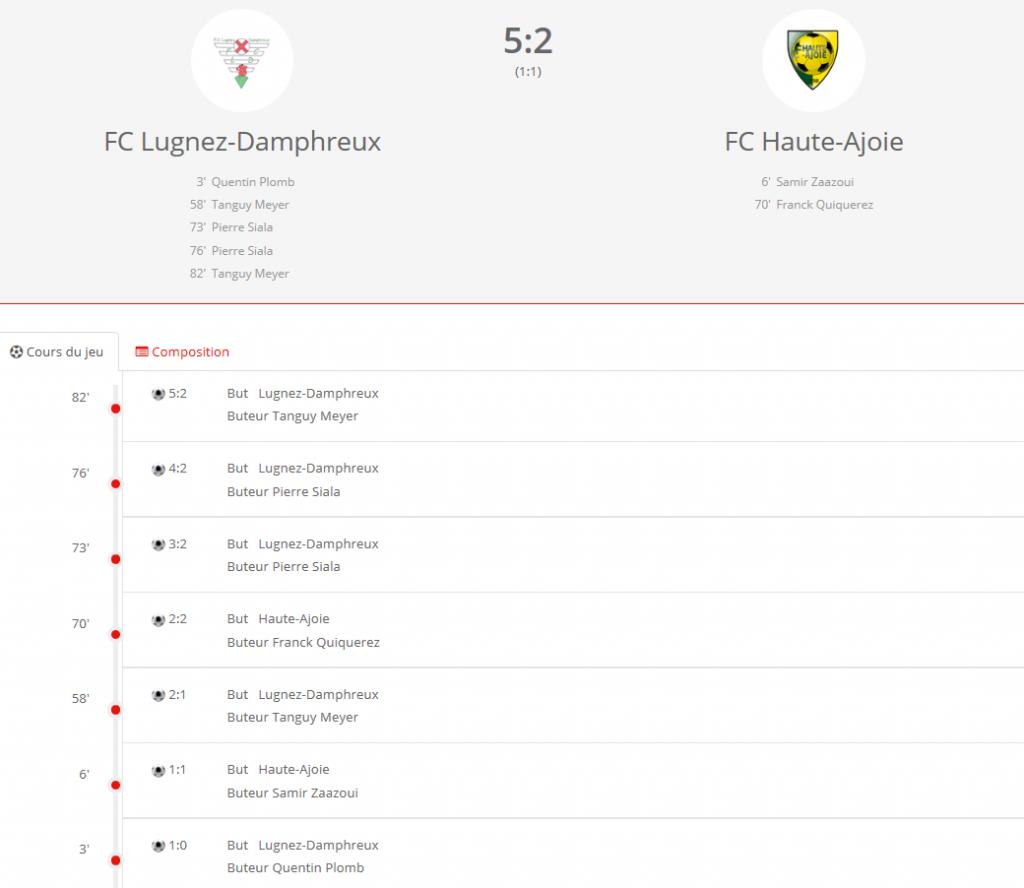 FC Lugnez - FC HA1
