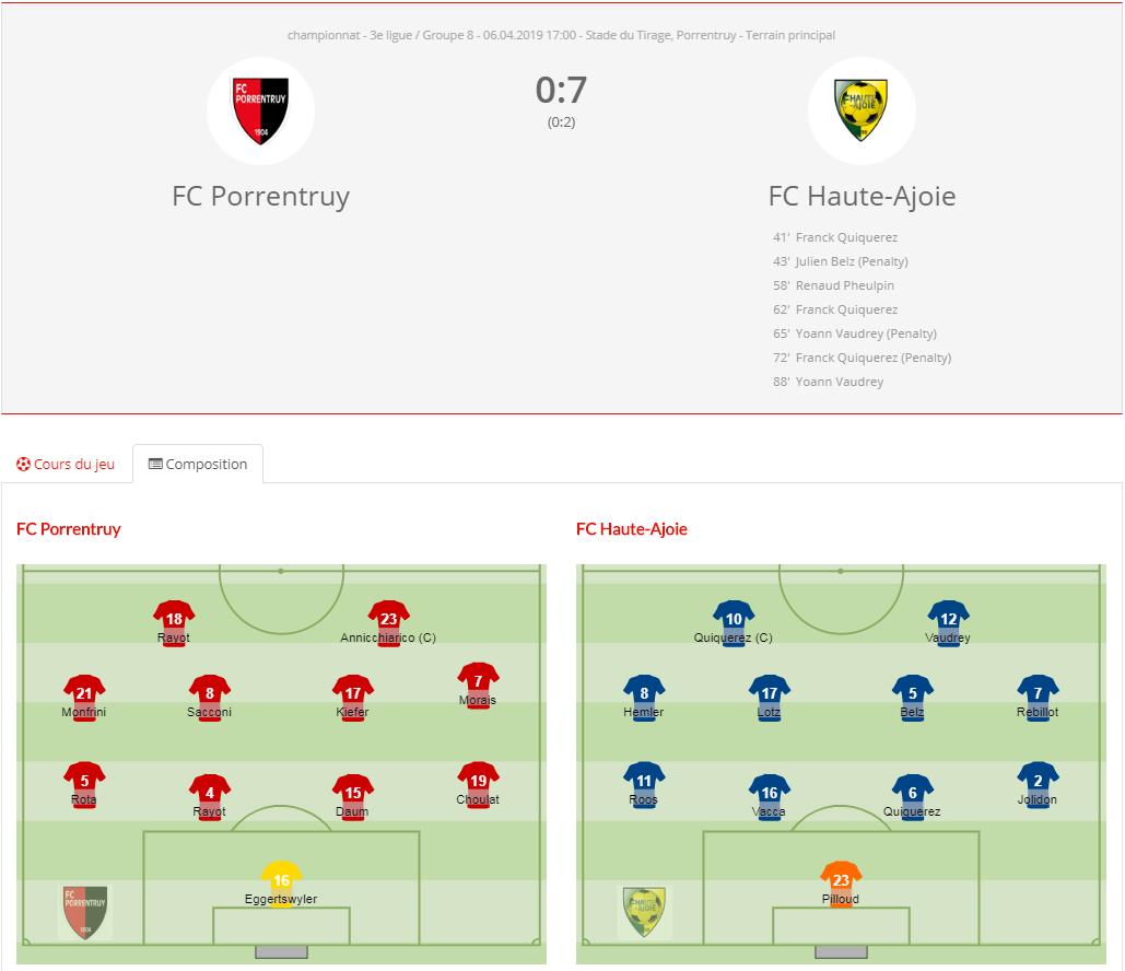 FC Porrentruy - FC HA 1