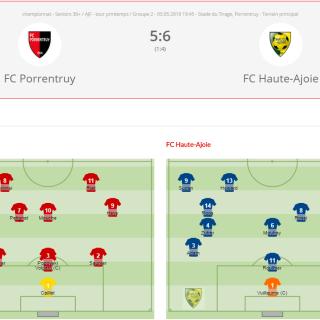 FC Porrentruy - FCHA vétérans