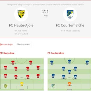 FCHA 1 - FC Courtemaîche