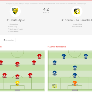 FCHA juniors D - FC Cornol la Baroche