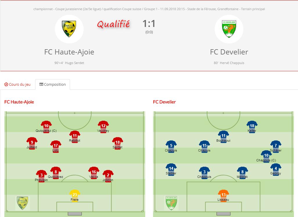 FCHA1 - FC Develier coupe jurassienne