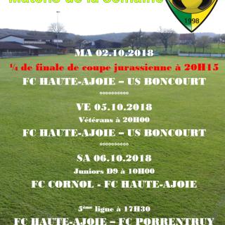 Match de la semaine 06.10.2018