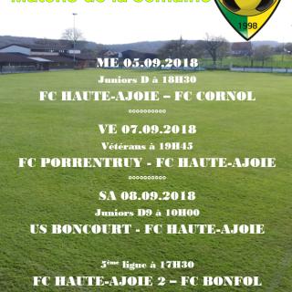 Match de la semaine 08.09.2018