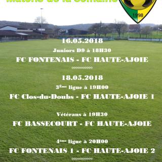 Match de la semaine 14.05.2018