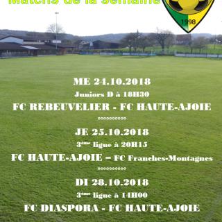 Match de la semaine 28.10.2018
