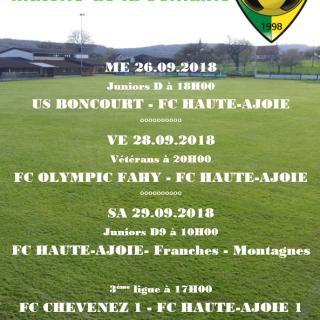 Match de la semaine 29.09.2018