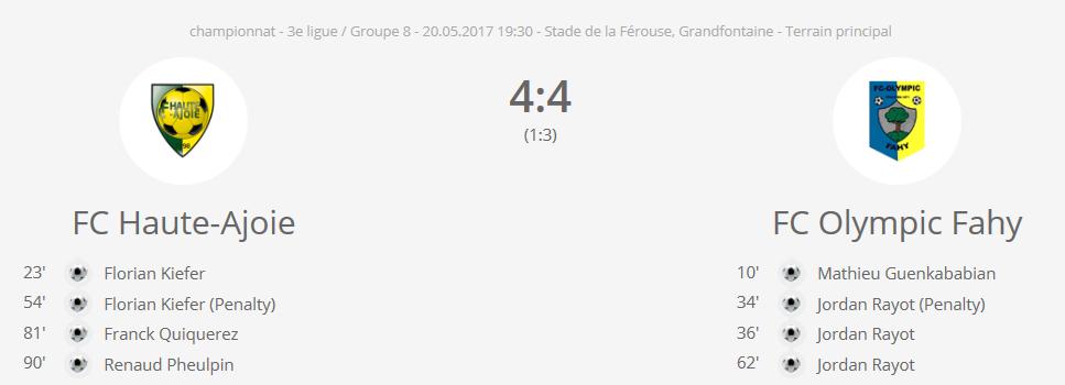 FC HA 1 - FC OF 1