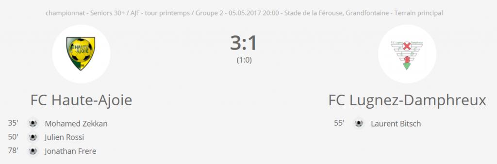 FCHA vété vs FC Lugnez-Damphreux
