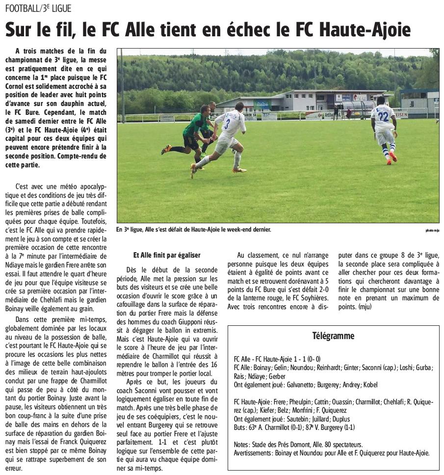 Résumé FC Alle - FCHA1