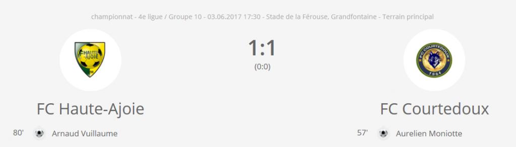 FC H-A 2 - FC Courtedoux