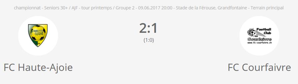 FC H-A vétérans - FC Courfaivre