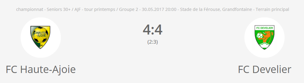 FC H-A vétérans - FC Develier