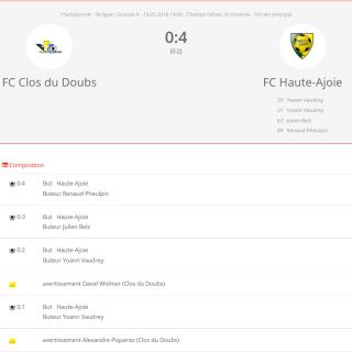 FC clos-du-doubs - FC HA1