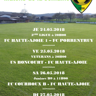 Match de la semaine 24.05.2018