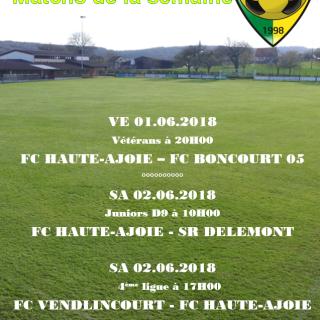 Match de la semaine 28.05.2018