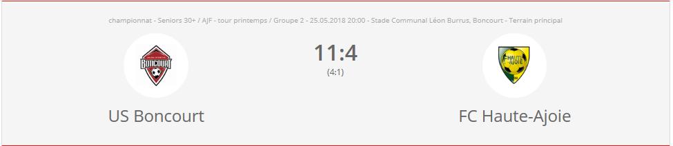US Boncourt - FC HA vétérans