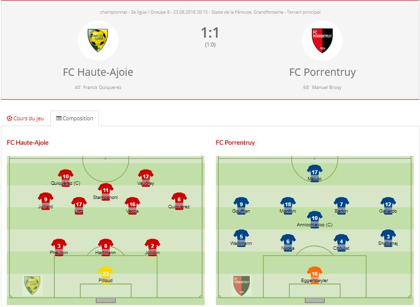 FC HA1 - FC Porrentruy 1