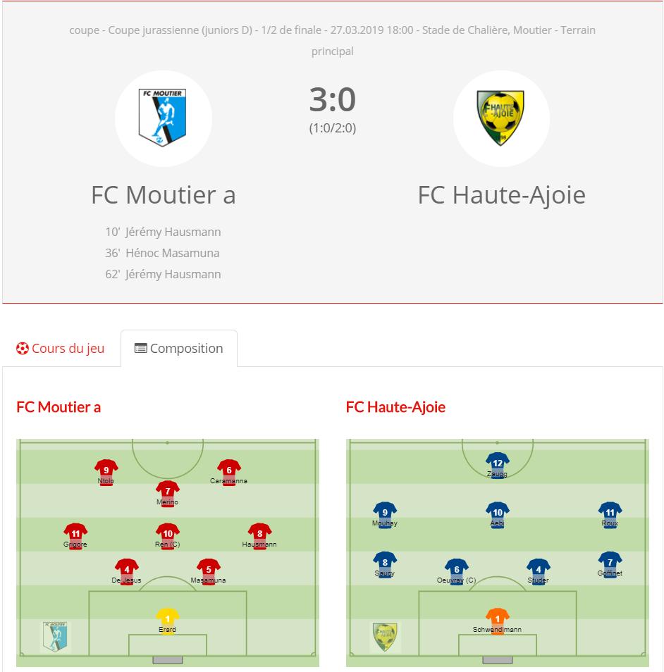FCHA JD - FC Moutier
