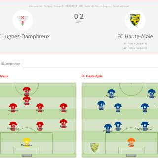 FCLugnez-Damphreux - FC Haute-Ajoie 1