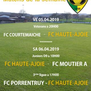 Match de la semaine 06.04.2019