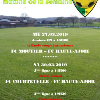 Match de la semaine 30.03.2019